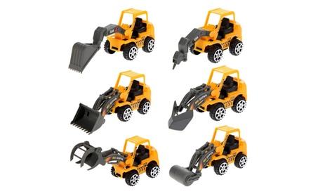 6Pcs Engineering Vehicle Kids Mini Car Toys Lot Vehicle Sets 291c3712-8f73-426d-8d83-21fc91a8e673