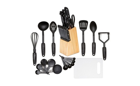 HULLR 30-Piece Kitchen Utensils and Knife Block Set 155792ec-6c94-4587-8a76-42d1a01ec2c3