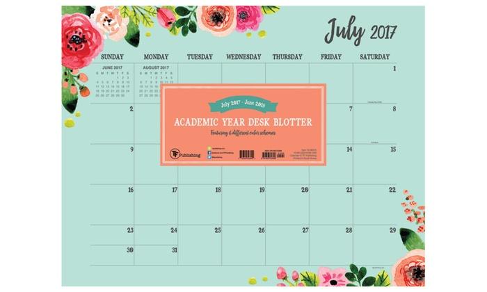 2018 academic year floral desk blotter groupon