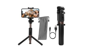 Extendable Selfie Stick Tripod with Bluetooth Remote for Smartphones