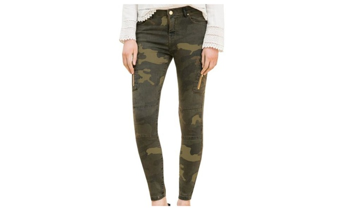 Women's Skinny Multi-Colored Simple Fashion Long Jeans