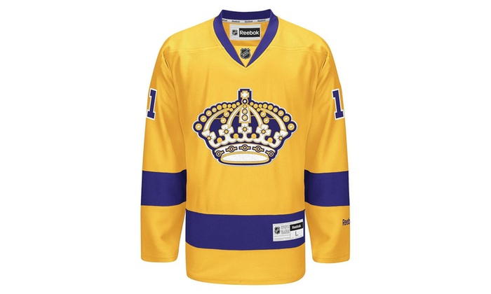new styles 92f4a bf44c Mens Los Angeles Kings Premier Player Alternate Gold/Purple Jersey