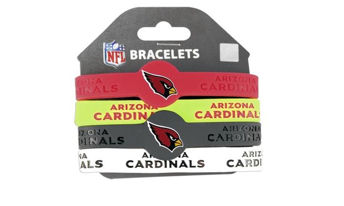 NFL Silicone Rubber Wrist Band Bracelet Set of 4