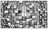 Black and Grey Cubes Contemporary Metal Wall Art 48x28 4 Panels