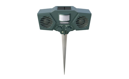 Hoont Motion Activated Solar Powered Ultrasonic Animal Pest Repeller 2a25849b-9576-4518-8a65-247017fd25ca