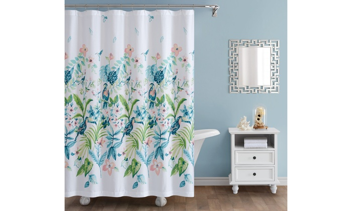 Oceanfront Resort Tropical Bungalow Shower Curtain