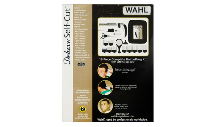 Up to 6 off on wahl deluxe self cut do it yo groupon goods groupon goods wahl deluxe self cut do it yourself haircut kit 18 pieces solutioingenieria Gallery