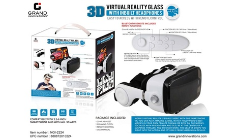 Grand Innovations3D Virtual Reality Glass with Built in Headphones & Remote 6163dee5-642d-4f39-9dc6-83141693239c