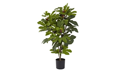 Nearly Natural 32 Fig Tree with 42 Leaves & 15 Figs f5b0fe79-a16f-4e77-9b06-ff3645e2a0f1