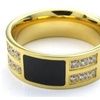 Stainless Steel Beauty Crystal Stone Men's Ring