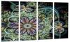 Symmetrical Green Fractal Flower - Digital Art Floral Metal Wall Art