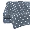 Superior 600 Thread Count Cotton Blend Polka Dot Pattern Sheet Set