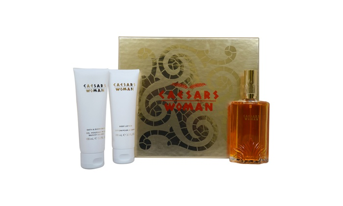 Caesars Caesars 3.3oz Cologne Spray, 3.3oz Body Lotion, 3.3oz Bath ...