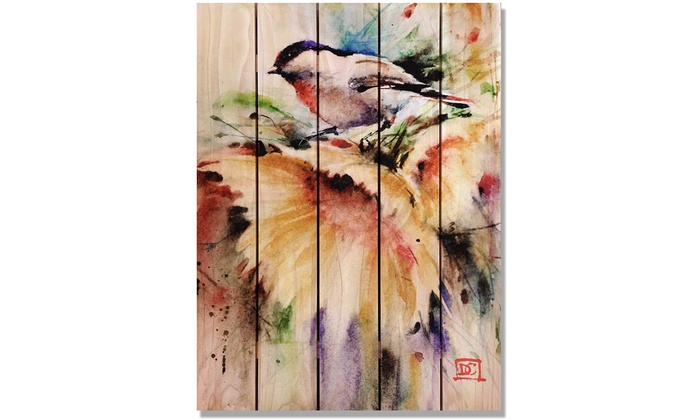 Gizaun Art My Space 16-Inch by 24-Inch Inside//Outside Wall Art Full Color on Cedar