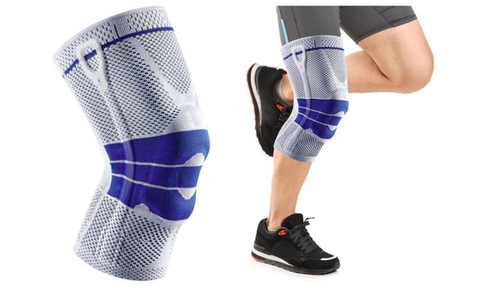 Athletes Magnetic Gel Padded Knee Sleeves Maximum Knee Support Blue
