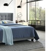 Elena Modern Fabric-Upholstered Winged Bed