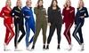 Women's 3 Piece Tracksuit Sets - Track Jacket Top W/ Rackback Tank & Legging
