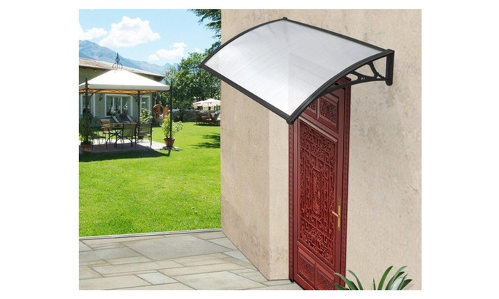 40 x 40  Window Awning Door Canopy Outdoor Polycarbonate Front Door  sc 1 st  Groupon : polycarbonate porch canopy - memphite.com