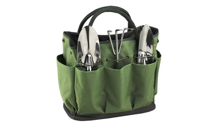 Eco gardening tote with tools groupon for Gardening 4 less groupon