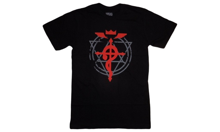 Hot Topic Mens Fullmetal Alchemist Brotherhood Flamel Cross T Shirt
