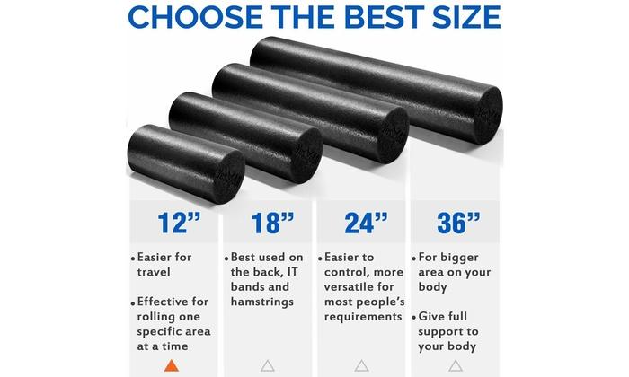 Massage Foam Roller Back Muscle Self Rumble Massager Exercise Hand Leg Body Tool
