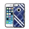 Insten Diagonal Plaid Hard Tpu Cover Case For Iphone Se/5s Blue White