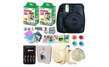 FujiFilm Mini 8 Camera+Accessory Kit+40 Instax Film+Charger+Batteries 052eb008-3d73-454e-867b-81e6a6160e09