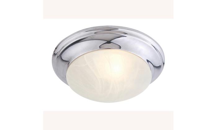 Omega 1-Light Chrome Flush Mount