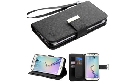 Insten Wallet Leather Case Card Slot For Samsung Galaxy S6 Edge