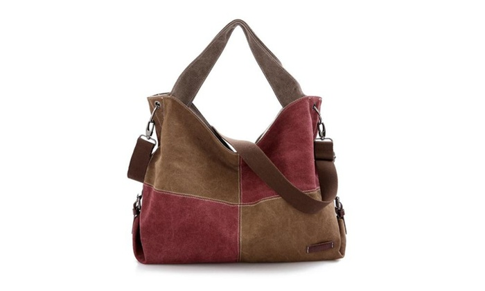 Fashion Hit Color Canvas Handbag
