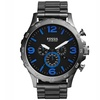 Fossil Men's 'Nate' Chronograph Stainless Steel Watch - Smoke