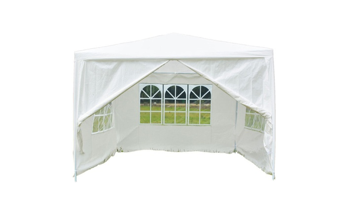 10'x10' Outdoor Canopy Party Wedding Tent Gazebo Awnings 4 Walls