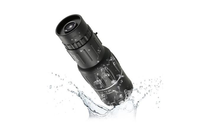 High magnification lens shimmer monocular adjustment