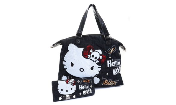 606c98962 Hello Kitty Angry Punk Slouchy Crossbody & Wallet SET | Groupon