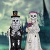 """12"""" Married Skeleton Gnome Couple - Set of 2"""