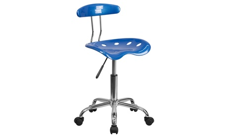 Vibrant Colored Swivel Task Chair with Tractor Seat a132dd09-072f-4a93-8aa0-79af44414f83