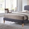 Fannie French Modern Classic-Style Upholstered Platform Bed