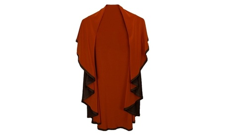 KOEZY Too 100CB Reversible Shrug in Copper and Chocolate Brown
