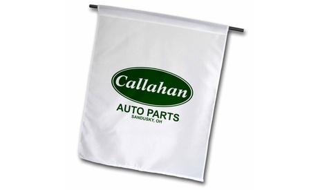 Garden Flag Callahan Auto Parts - 12 by 18-inches