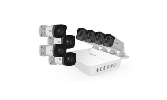 Ultra HD 8 Ch. 2TB NVR Surveillance System with 8 2 Megapixel Cameras