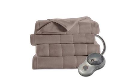 Electric Heated Fleece Blanket, Queen b6f88695-a92d-4260-ad2a-f72d2b46a124