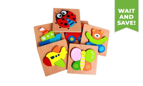 1PC Wooden Jigsaw Puzzles Educational Toys for Kids
