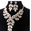 Gold Color Flower Bridal Crystal Rhinestone Vintage Jewelry Set