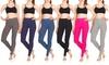 Studio 33 Women's Soft High Rise Full-Length Cotton Leggings