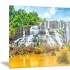 Pongour Waterfall Landscape Photography Metal Wall Art 28x12