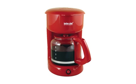 Better Chef 12 Cup Red Coffee Maker with Water Level Indicator 8ff4e607-440f-43bc-8606-d670619fdea8