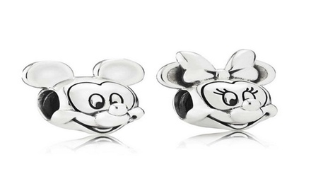 Mickey And Minnie Mouse Pandora Style Euro Bead Charm