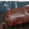 Men Crossbady Bag Shoulder Bag Barrel-shaped Sport Travel Cowhide
