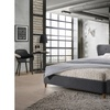 Camden Dark Grey Fabric Upholstered Platform Bed