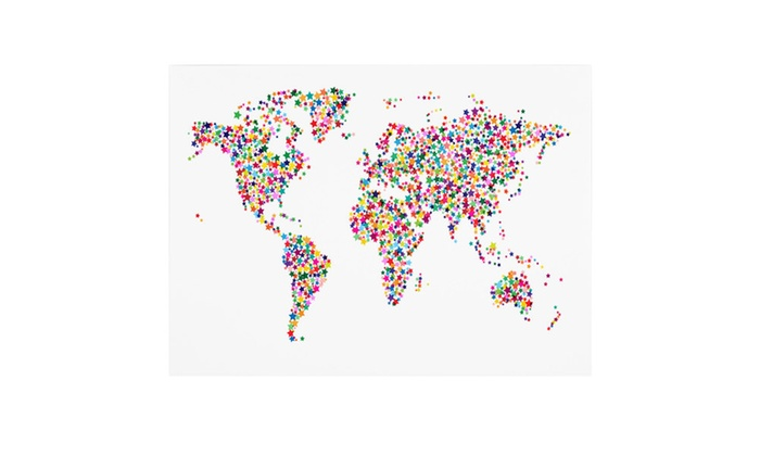 Michael tompsett stars world map canvas art groupon michael tompsett stars world map canvas art gumiabroncs Images